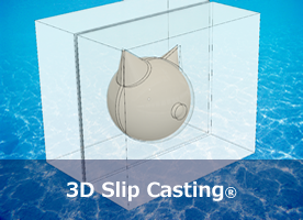 3D slip casting method