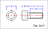 Cap bolt [metric] Drawing